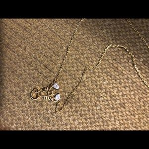 kate spade ♠️ gold scorpio necklace NWT